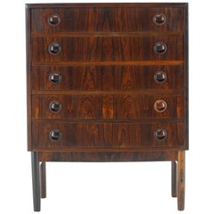 1960s Kai Kristiansen Danish Palisander Chest of Drawers