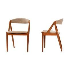 1960's Kai Kristiansen for Schou Andersen Model 31 Dining Chairs, Set of 2