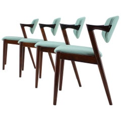 1960s Kai Kristiansen Model 42 Rosewood Dining Chairs, Set of 4