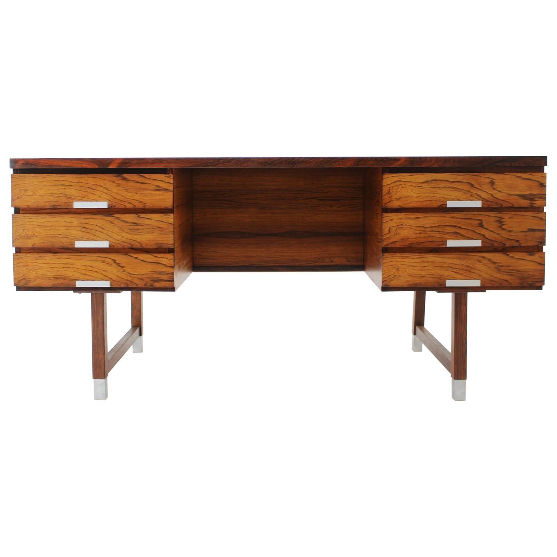 1960s Kai Kristiansen Palisander Freestanding Writing Desk, Denmark