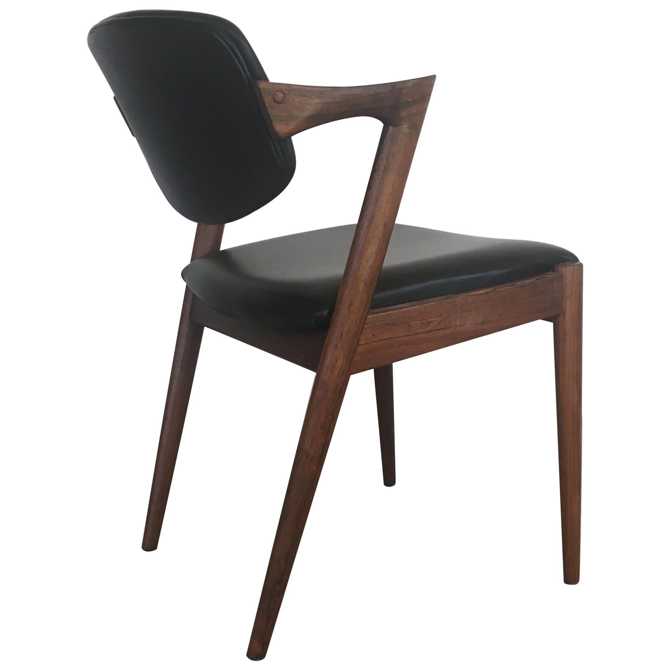 1960s Kai Kristiansen Fully Restored and Reupholstered Rosewood Dining Chairs