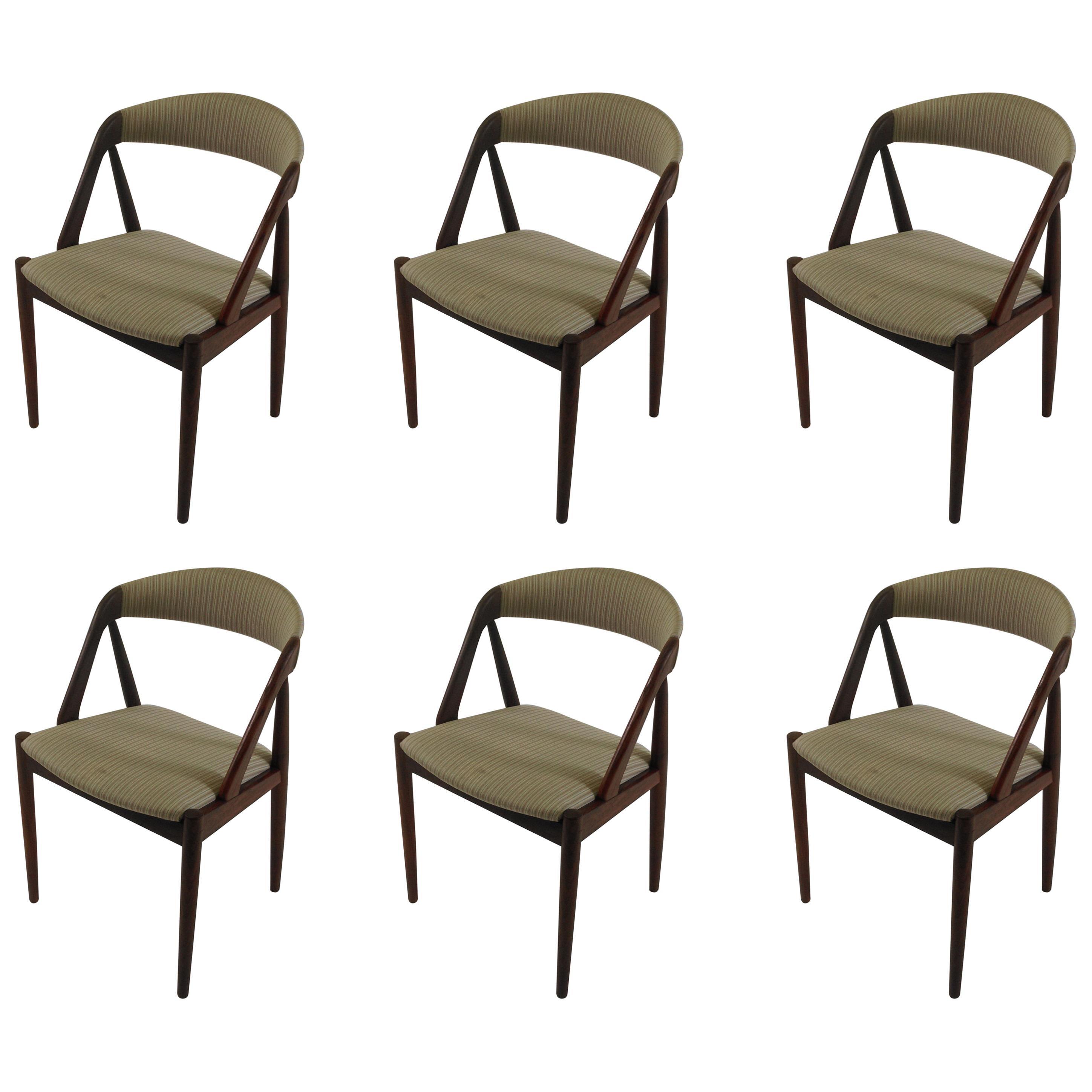 1960s Kai Kristiansen Set of Six Teak Dining Chairs - Choice of Upholstery