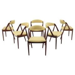 1960s Kai Kristiansen Teak Dining Chairs Model 31 for Shou Andersen, Denmark