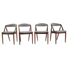 1960s Kai Kristiansen Teak Dining Chairs Model 31 for Shou Andersen, Denmark, Se