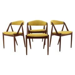 1960s Kai Kristiansen Teak Dining Chairs, Set of 4