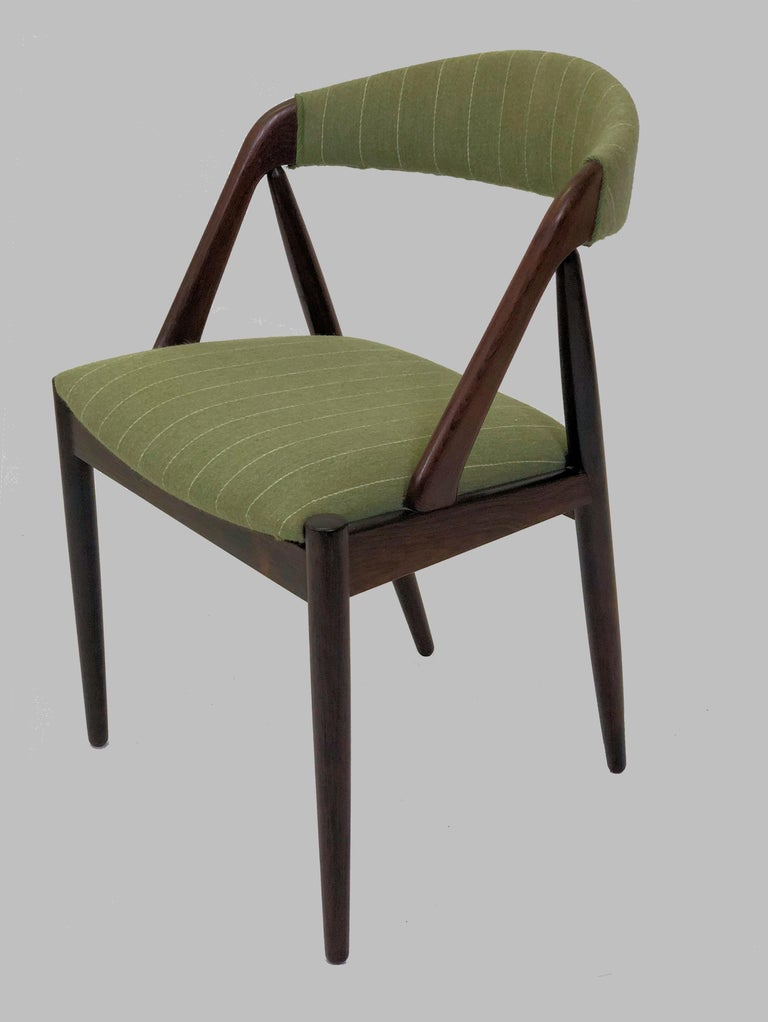 Scandinavian Modern 1960s Kai Kristiansen Twelve Rosewood Dining Chairs with Upholstery of Choice For Sale