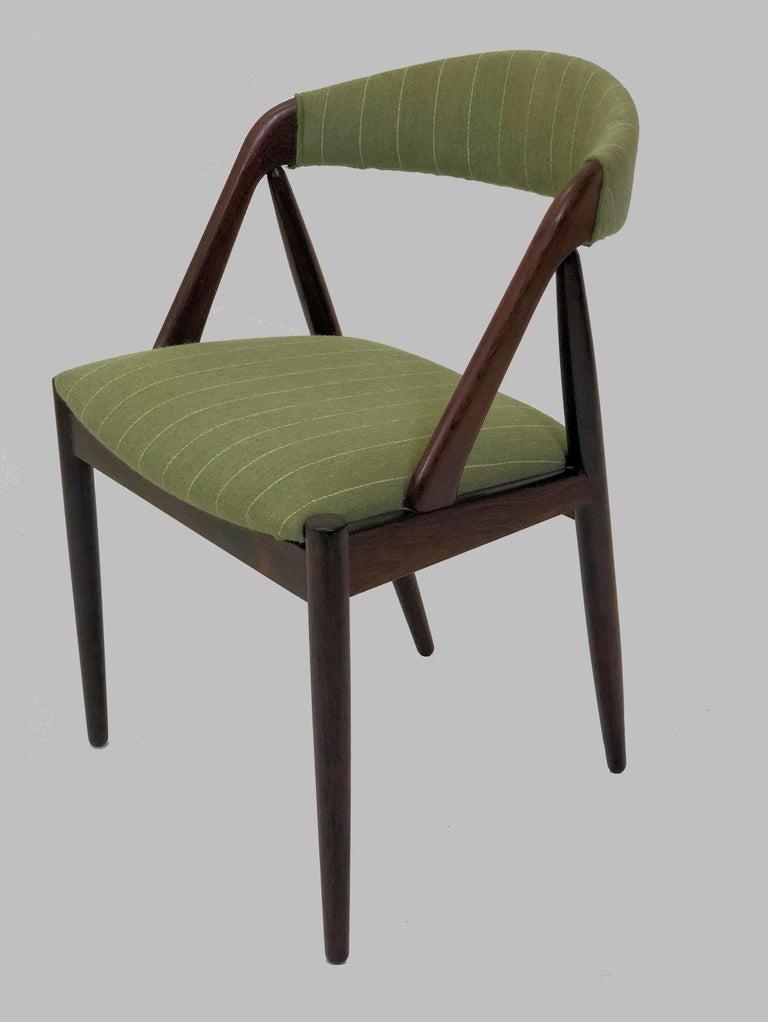 Scandinavian Modern 1960s Kai Kristiansen Twelve Rosewood Dining Chairs with Upholstery of Choice