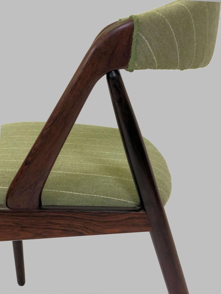 Danish 1960s Kai Kristiansen Twelve Rosewood Dining Chairs with Upholstery of Choice