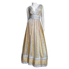 1960s Kent Silk Plunge Gown