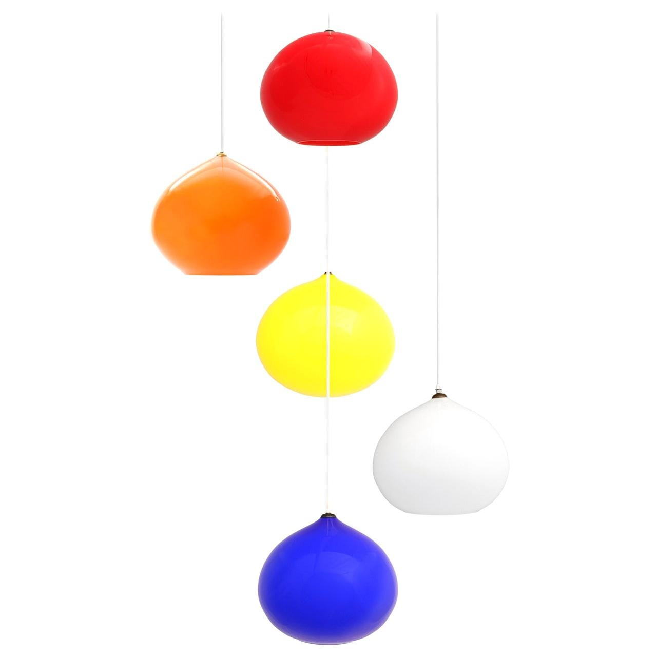 1960s L51 Hanging Lights by Alessandro Pianon for Vistosi