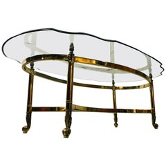 1960s La Barge Glass Top Coffee Table