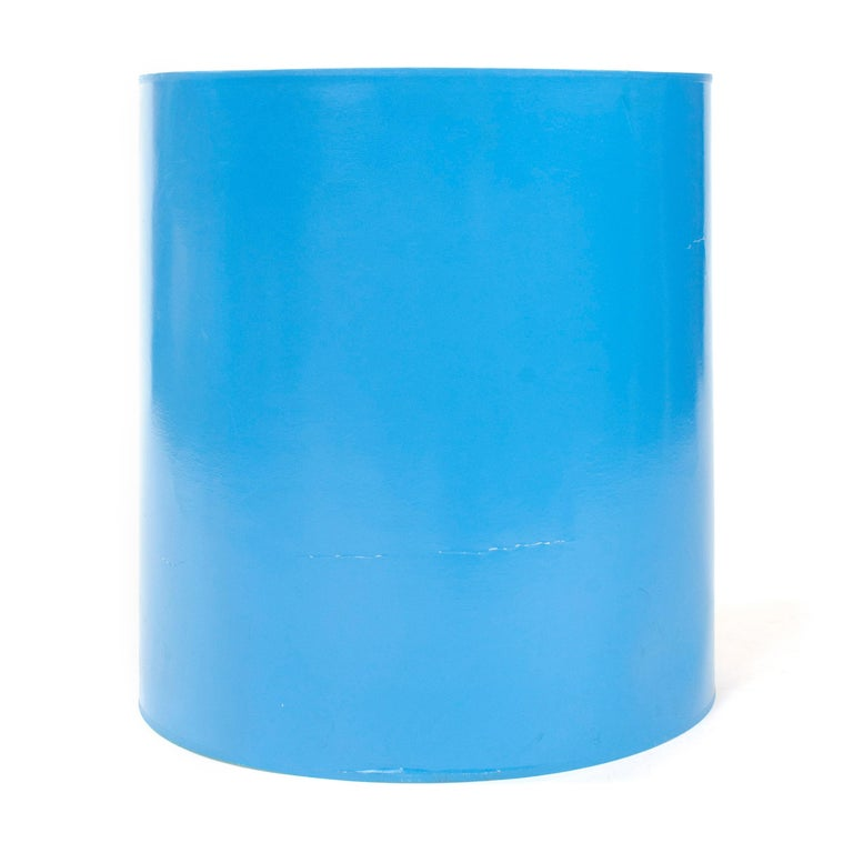 Mid-Century Modern 1960s Lacquered Blue Lamp Shade For Sale