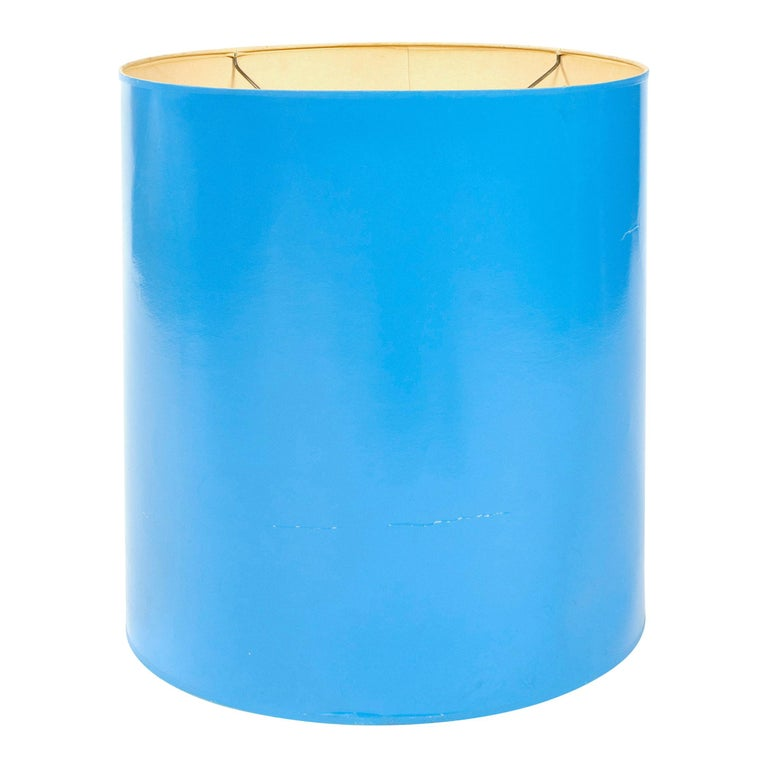 1960s Lacquered Blue Lamp Shade For Sale