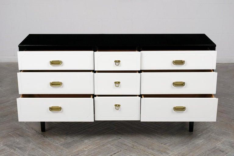 Mid-Century Modern Mid Century Modern White Lacquered Dresser For Sale
