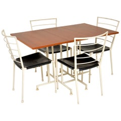 1960s Ladderax Teak Dining Table and 4 Chairs