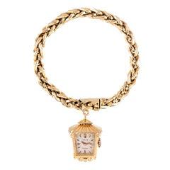 """1960s Lady's Rolex """"Lantern"""" Charm Bracelet Watch"""