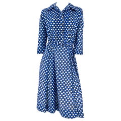 1960s L'Aiglon Printed Shirtwaist Dress