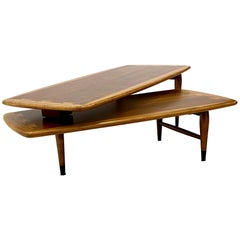 1960s Lane Switchblade Coffee Table Acclaim Two-Piece Adjustable by Andre Bus