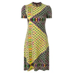 1960s Lanvin Multicolor Midi Dress