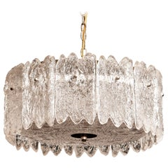 1960s, Large Crystal Pendant by Carl Fagerlund for Orrefors