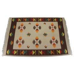1960s Large Midcentury Wool Kilim Rug