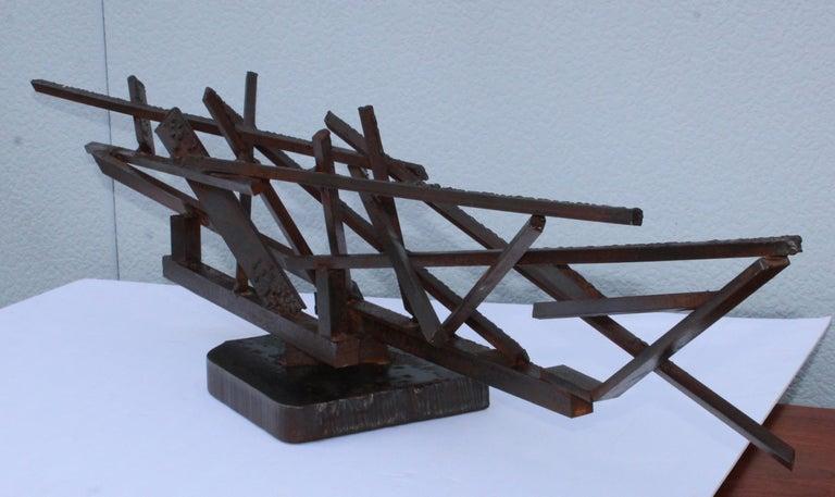 1960s Large Modernist Steel Sculpture For Sale 3