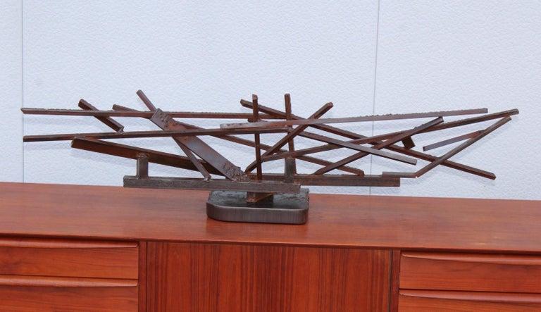 1960s Large Modernist Steel Sculpture For Sale 4