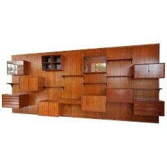 1960s Large Poul Cadovius Wall Unit