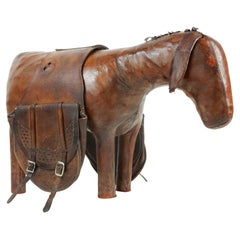 1960s Leather Burro Sculpture Ottoman by Dimitri Omersa