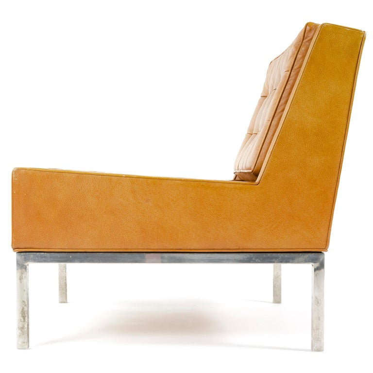 American 1960s Leather Lounge Chair by Edward Wormley for Dunbar For Sale