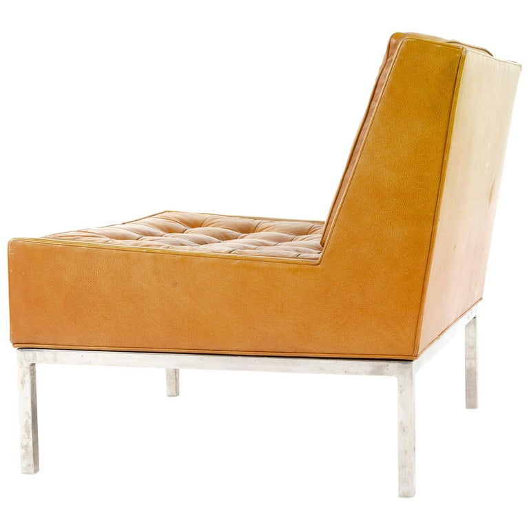 1960s Leather Lounge Chair by Edward Wormley for Dunbar For Sale