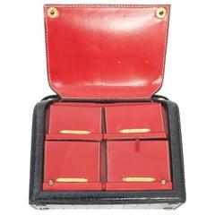 1960s Lederer Black Croc Bag with Concealed Accessories