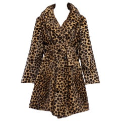 1960'S Leopard Print Wool Blend Faux Fur Cheetah Spot Coat