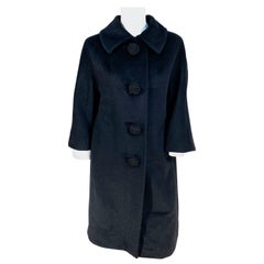 1960s Lilli Ann Black Cashmere Coat