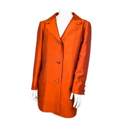 1960s Lilli Ann Rust Silk Coat