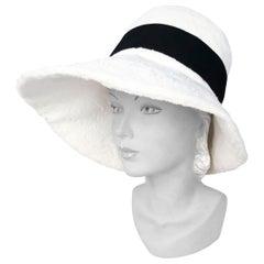 1960's Lilly Daché White Faux Fur Fashion Hat