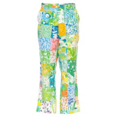 1960S LILLY PULITZER Bright Multicolor Cotton Patchwork Pants