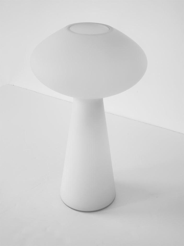 Mid-Century Modern 1960s Lisa Johansson-Pape Matte Opale Glass Table Lamp, Finland For Sale