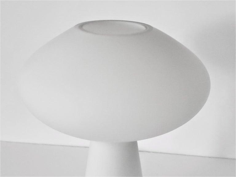 Mid-20th Century 1960s Lisa Johansson-Pape Matte Opale Glass Table Lamp, Finland For Sale