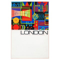 1960s London Travel Poster by GB Karo Pop Art British Design