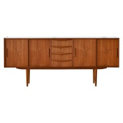 1960s Low Teak Sideboard Danish Midcentury