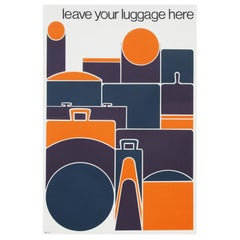 1960s Luggage Abstract Pop Art Travel Poster for British Transport