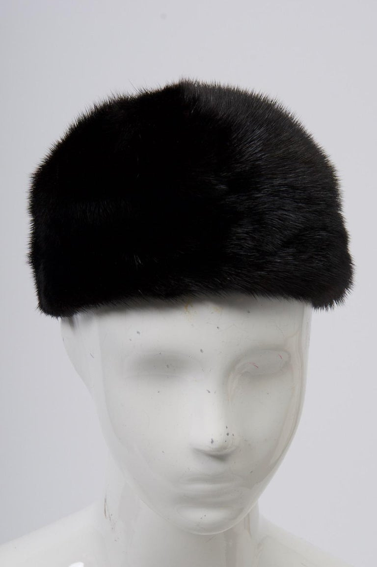 1960s Mahogany Mink Hat For Sale 2