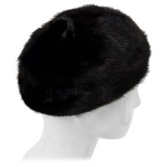 1960s Mahogany Mink Hat