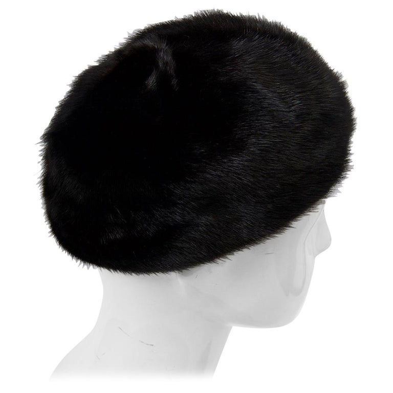 1960s Mahogany Mink Hat For Sale