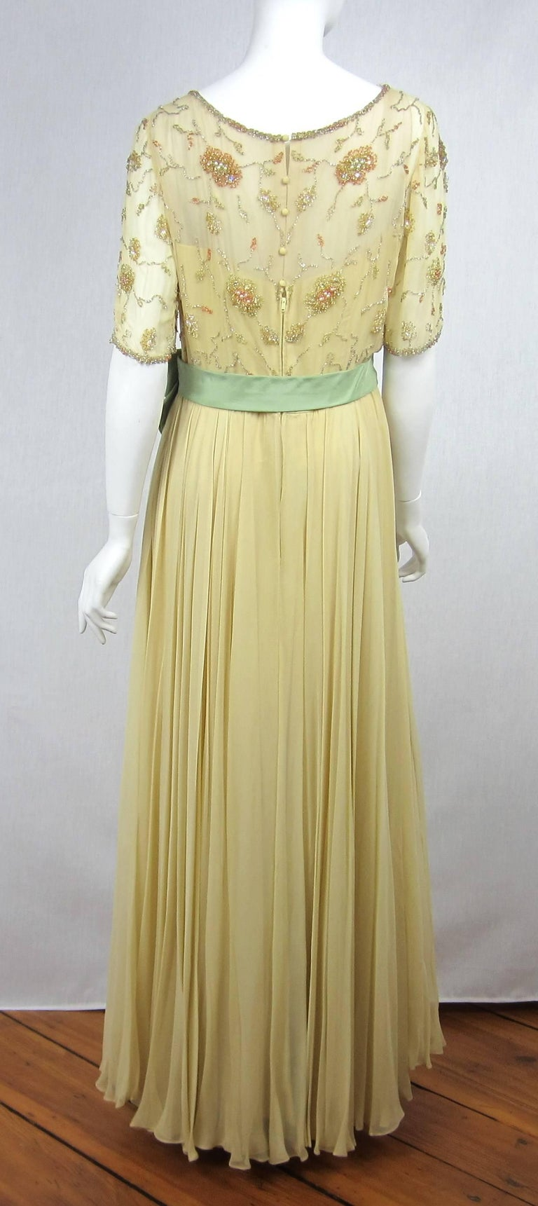 1960s Malcolm Starr Beaded Gown Vintage Dress   For Sale 1