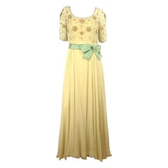1960s Malcolm Starr Beaded Gown Vintage Dress