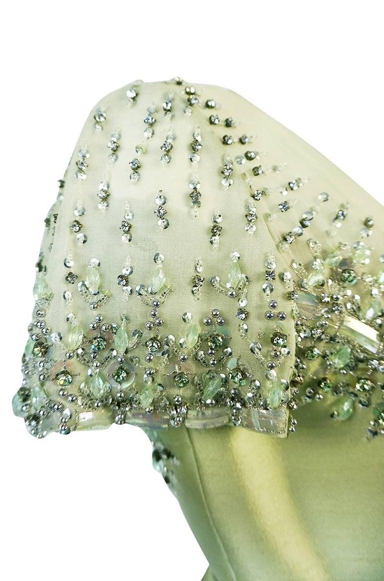 1960s Malcolm Starr Silk, Sequin, Beads & Crystal Embellished Dress For Sale 2