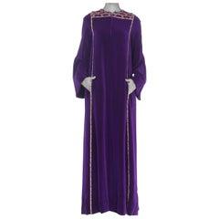 1960S Malcolm Starr Velvet And Crystal  Dress