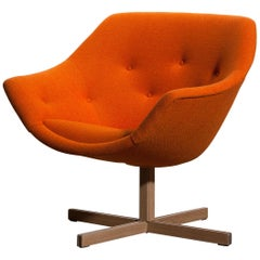 1960s, 'Mandarini' Swivel Armchair by Carl Gustaf Hiort and Nanna Ditzel